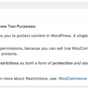 WooCommerce Restrictions Knowledge Base