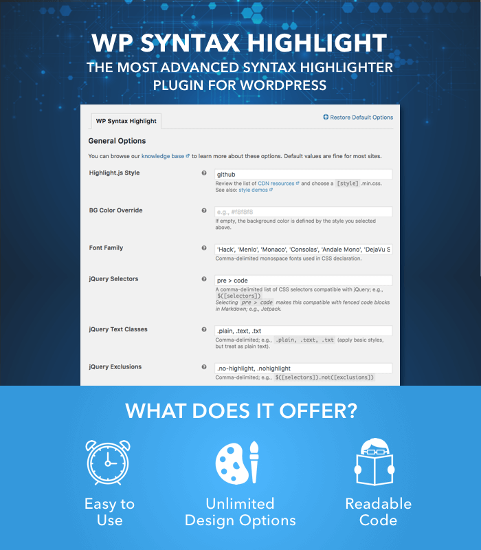 WP Syntax Highlight - Offer