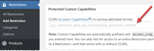 Packaging Custom Capabilities Screenshot