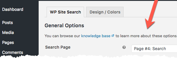 WP Site Search - Change the Default Search Page