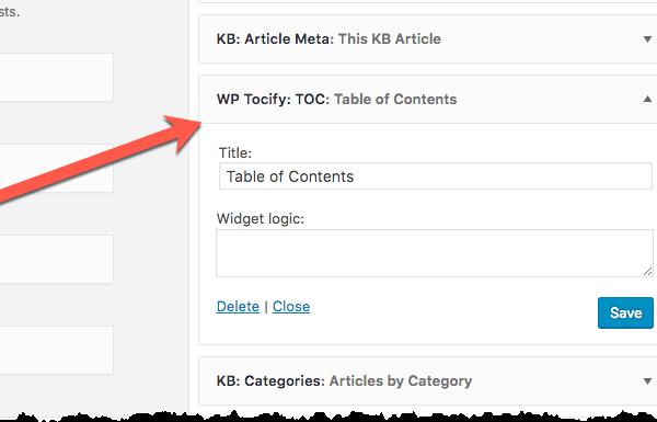 WP Tocify - TOC Widget