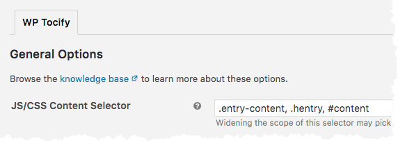 JS / CSS Content Selector