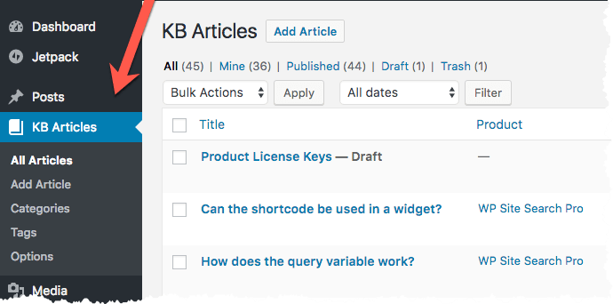 KB Article Post Type