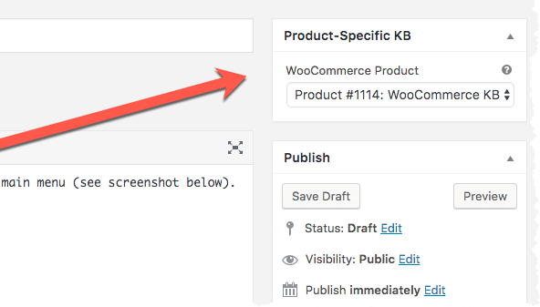 WooCommerce KB Articles - Product Meta Box