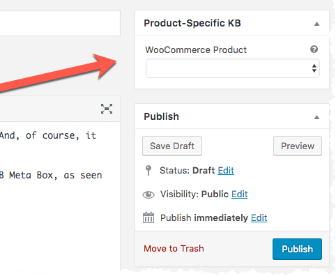WooCommerce KB Articles - Product-Specific KB Meta Box