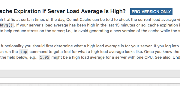 Disable Cache Expiration Server Load