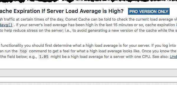 Disable Cache Expiration Server Load
