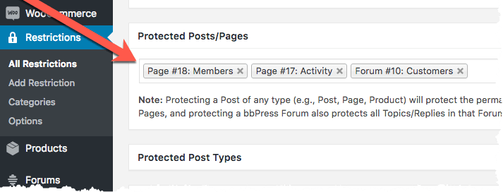 BuddyPress Restrictions
