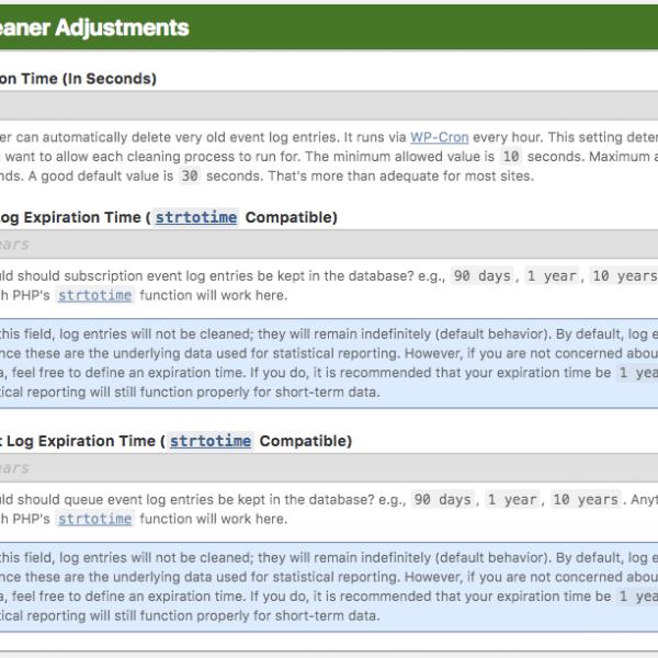 Log Cleaner Adjustments