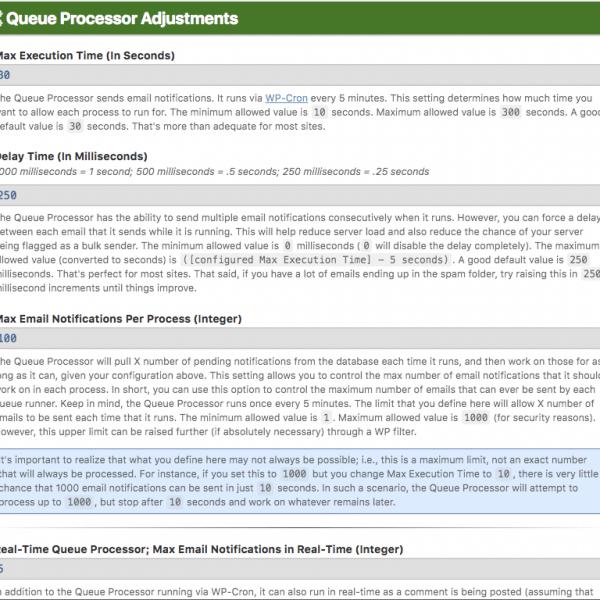 Queue Processor Adjustments