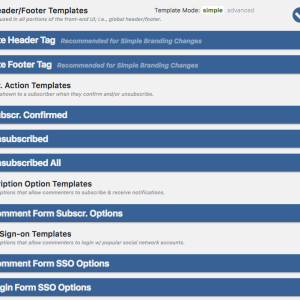 Site Header Footer Templates