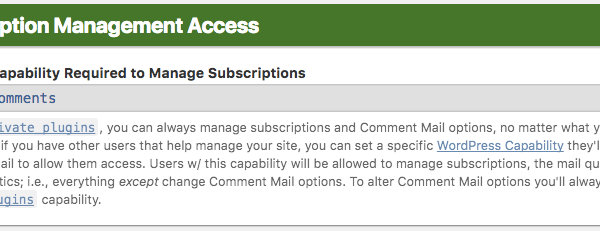 Subscription Management Access