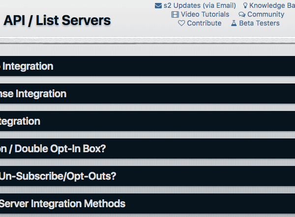 s2Member | API List Server