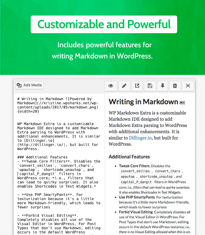 WP Markdown Extra - Customizable and Powerful