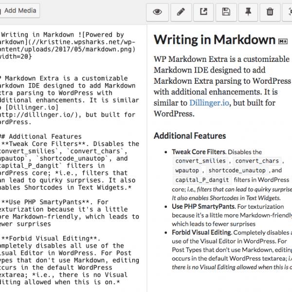 WP Markdown Extra - Editor